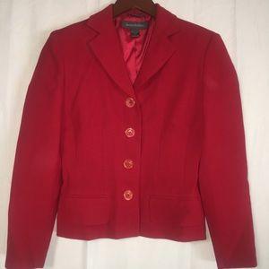 Banana Republic Sz 2 Red Blazer Italy wool (V)